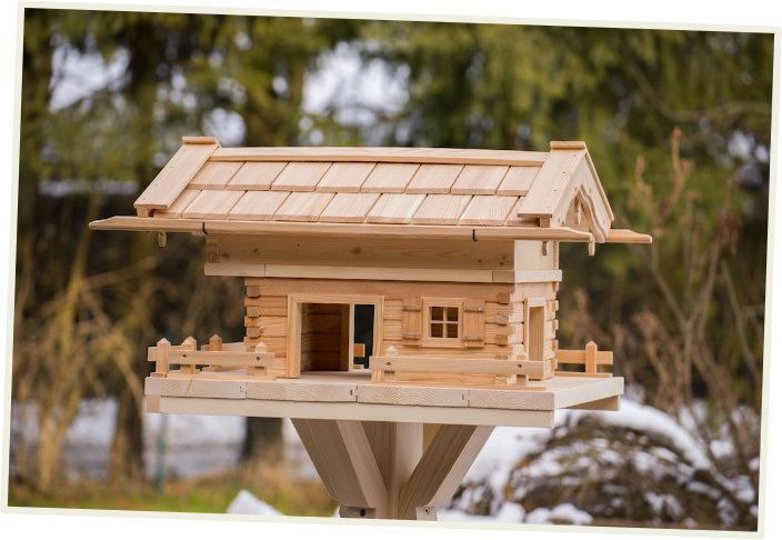 vogelhaus selber bauen futterhaus bauanleitung. Black Bedroom Furniture Sets. Home Design Ideas